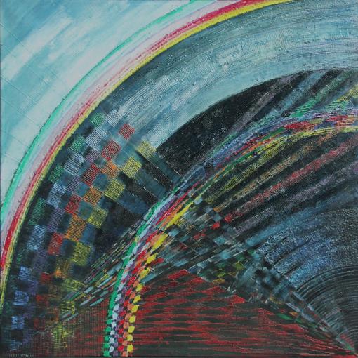 All that Jazz II – 70x 70 cm, akryl/olej na płótnie