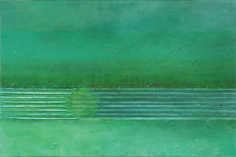 Gusła – 80x 120 cm, akryl/olej na płótnie