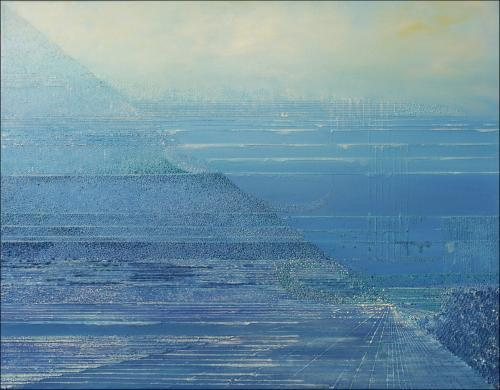 Horyzont II – 70x 90 cm, akryl/olej na płótnie