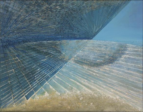 Horyzont – 70x 90 cm, akryl/olej na płótnie