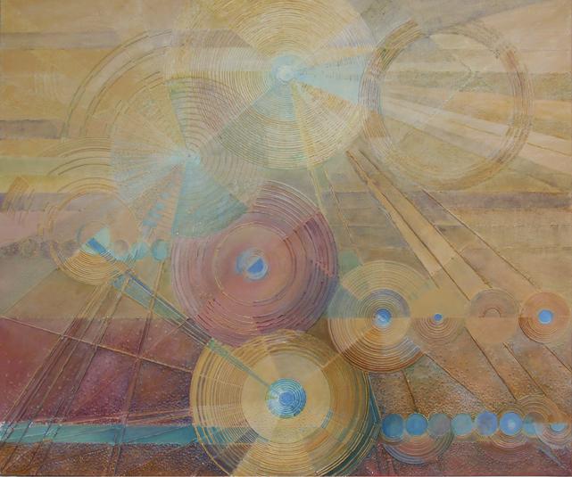 Kanawał wenecki I – 100x 120 cm, akryl/olej na płótnie