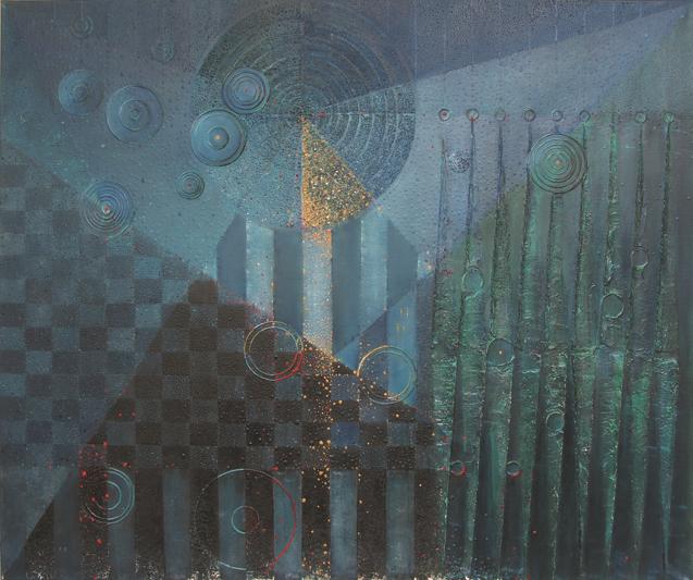 Kanawał wenecki II – 100x 120 cm, akryl/olej na płótnie