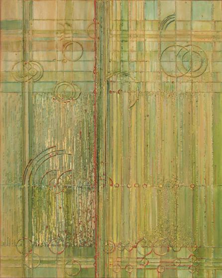 Łany – 100x 80 cm, akryl/olej na płótnie