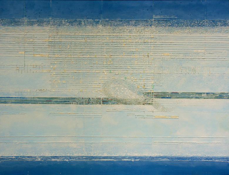 Lot – 70x 100 cm, akryl/olej na płótnie