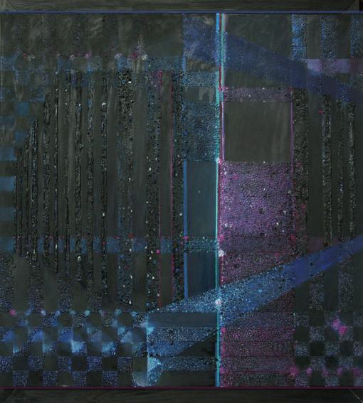 Nokturn– 90x 100 cm, akryl/olej na płótnie