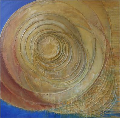 Przestrzeń– 70x 70 cm, akryl/olej na płótnie