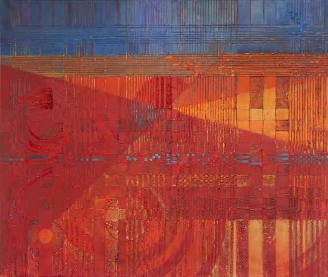 Rubato – 100x 120 cm, akryl/olej na płótnie