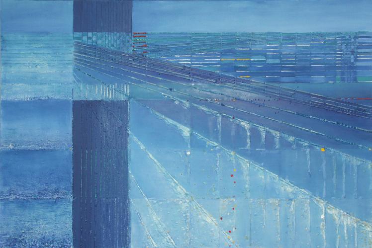 Smuga cienia – 80x 120 cm, akryl/olej na płótnie