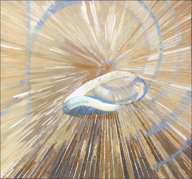 Wstęga Mobiusa I – 70x 78 cm, akryl/olej na płótnie