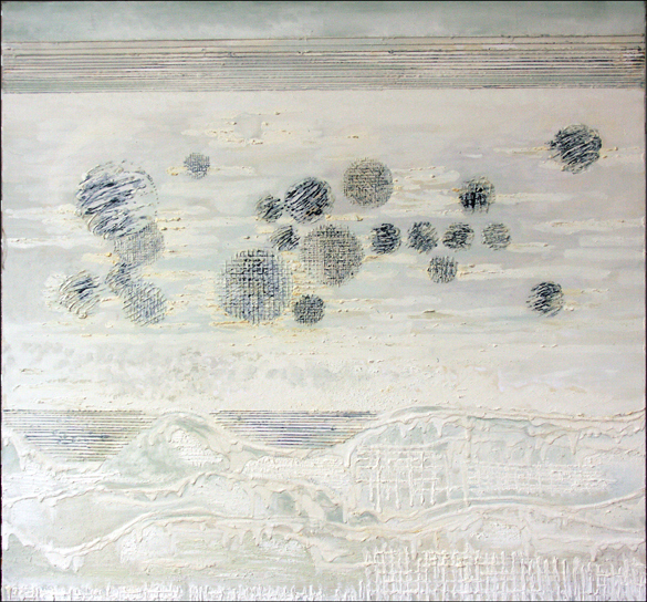 Zima – 70x 78 cm, akryl/olej na płótnie
