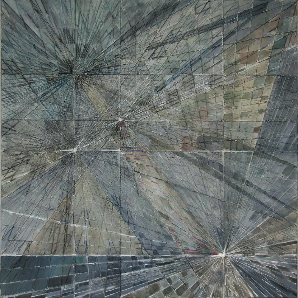 Burza II – 100x100cm, akryl/olej na płótnie