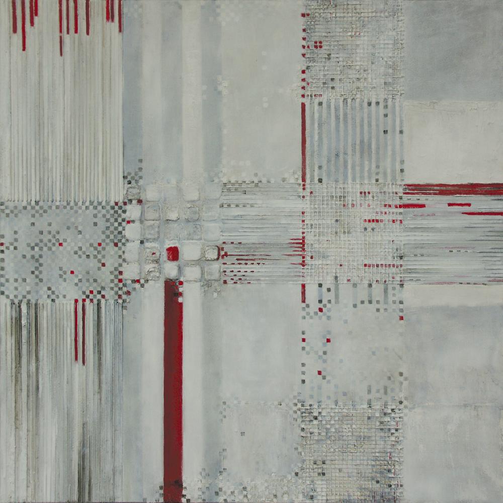Etiuda IV – 80x80 cm, akryl/olej na płótnie