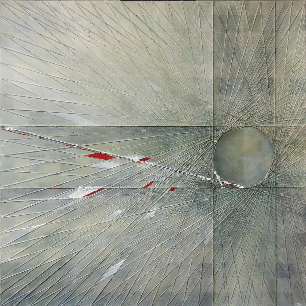 Symfonia Polonia 2 – 100x100 cm akryl/olej na płótnie